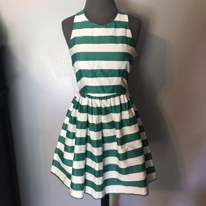 Small Green and White Dress small